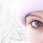 winter girl high-key