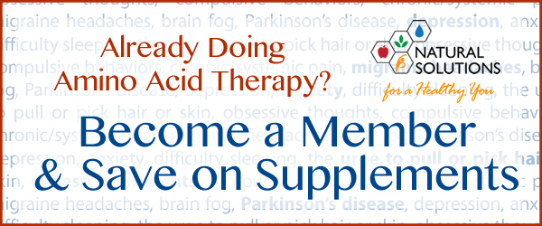 Become a Member and save on amino acid therapy products